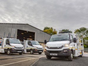 Connect Plus Services has taken delivery of four IVECO 7.2-tonne Daily chassis cabs