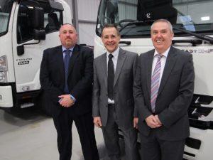 (L-R) Lee Tansley, Martin Bragg and Dave Slatcher from Isuzu Truck UK