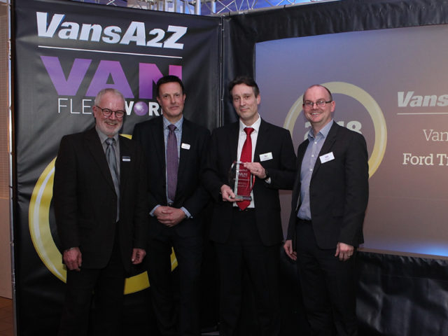 Iain Brooks and Phil Daniel pick up the award for Van of the Year, with Neil McIntee (left) and Dan Gilkes (right)
