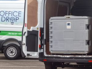 Office drop installed ColdCube units in 45 of the company's 66-strong Ford Transit fleet.
