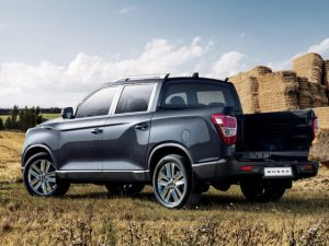 The SsangYong Musso can tow up to 3.5 tonnes, with a maximum load weight of one tonne.