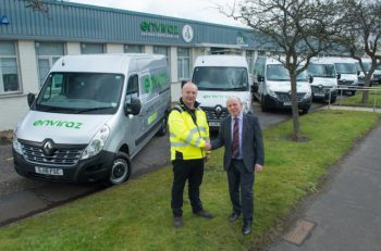 Glasgow-based Enviraz has added 18 Renault Master and seven Renault Kangoo models to its fleet.
