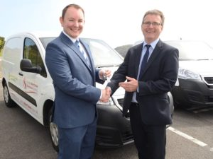 Swansea Council Central Transport Unit's Mark Barrow (right) with Neil Vaughan, marketing manager of Day's Fleet