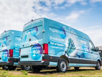 Hyperoptic's Crafter vans will be used to help lay super-fast fibre optic cables across the UK