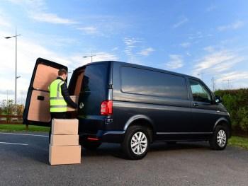 Volkswagen Van being loaded