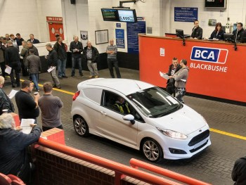 Nearly-new LCV values averaged £14,286 at BCA in June 2019