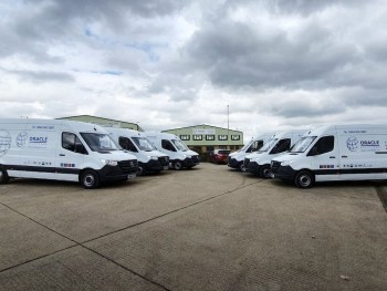 Oracle Asbestos Solution partnered with Europcar to provide six liveried Sprinters to its drivers