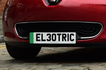The number plate design will feature a green flash to the left hand side, rather than being a full green number plate
