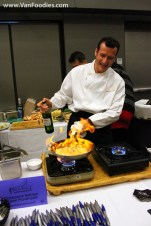 Flambee in action at Provence Restaurants station