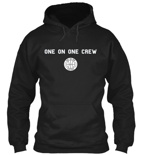 One On One Crew Black Sweatshirt Front