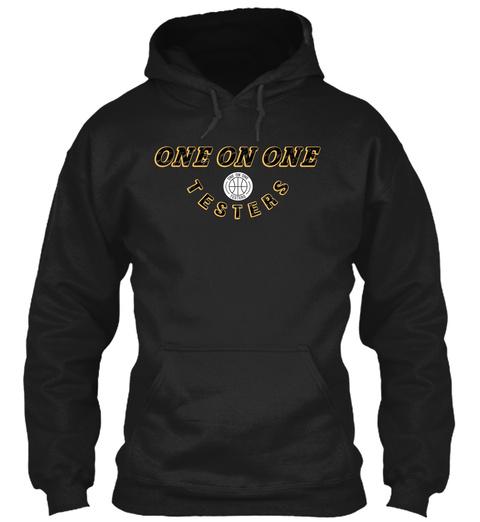 'snakeskin' Hoodie Black Sweatshirt Front