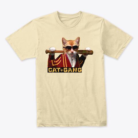 Cat Gang Cream T-Shirt Front