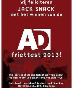 Jack Snack Den Haag: Winnaar van de AD Friettest 2013
