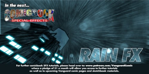 COMIC BOOK SFX RAIN