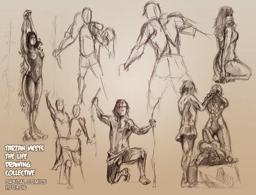 Tarzan Life Drawing Orbital comics