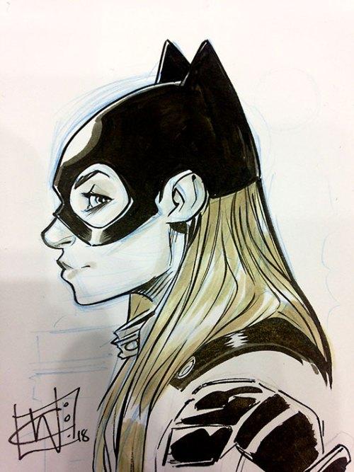 Chris Wildgoose Batgirl Sketch