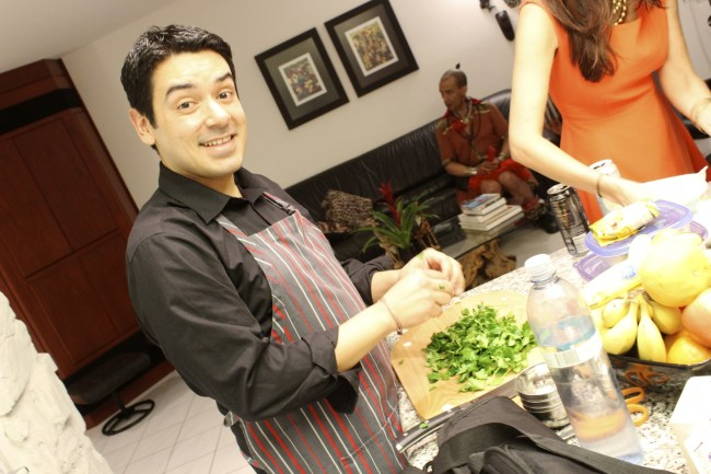 Chef Edgar prepares a delicious creation on site!
