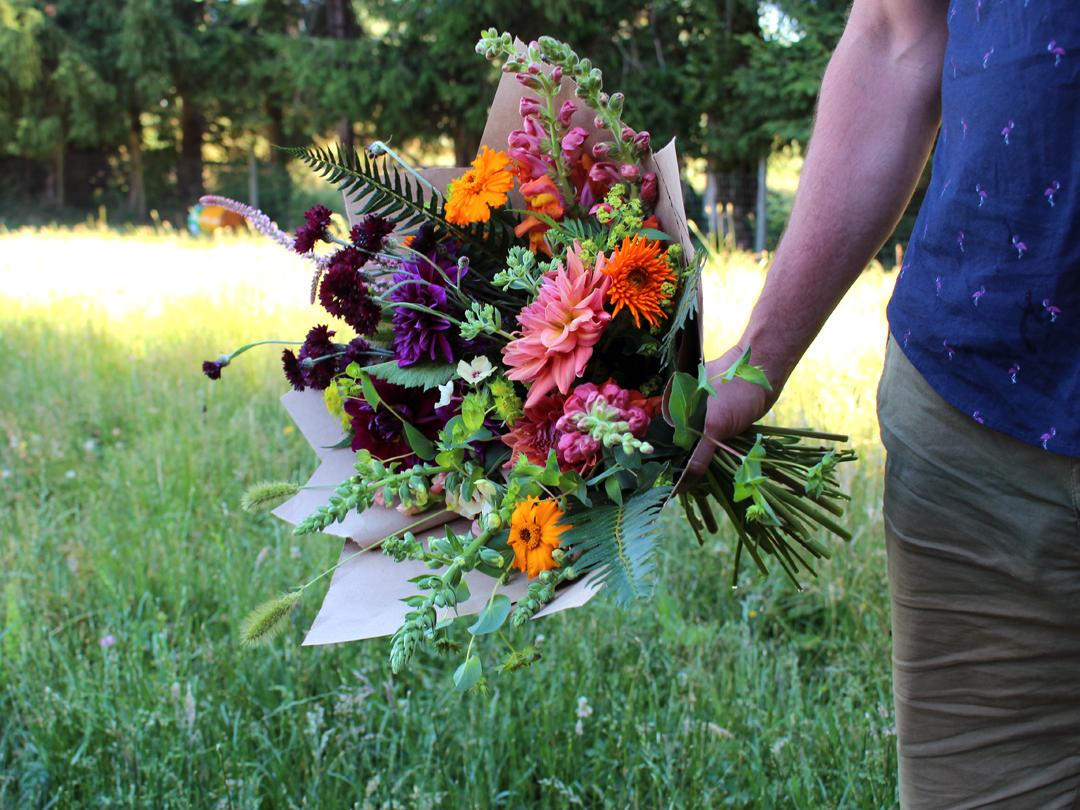 boutique farm flowers langley, bc farmer florist