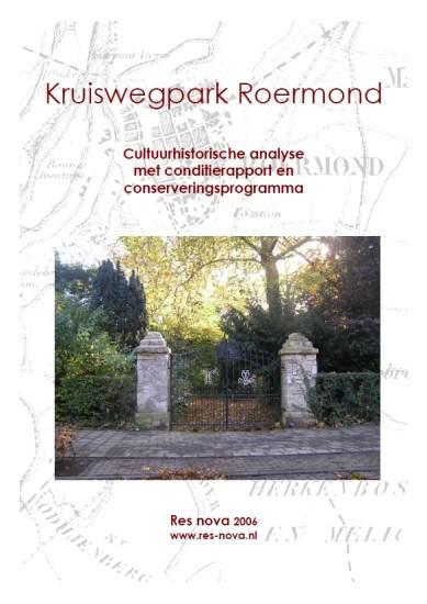 Cuyperiana: omslag van het rapport over het Kruiswegpark uit 2006