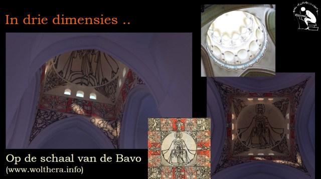 3D-model viering nieuwe Bavo met projectie