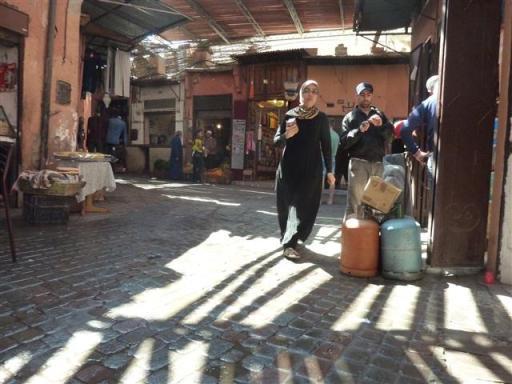 Een beeld van de sfeer in de soeks van Marrakesh (2014).