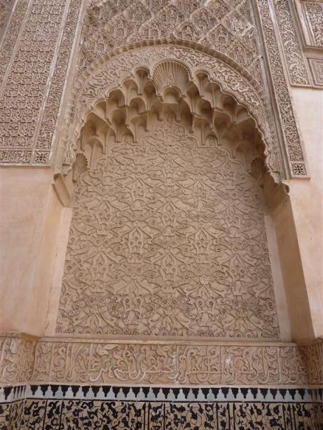 Ben Joesoef Madrassa | Merdersa Ben Youssef te Marrakesh (gebouwd circa 1570, gerestaureerd in 1950).