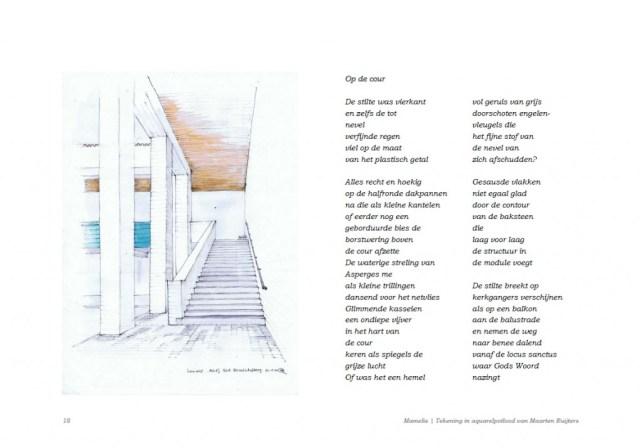 Klik om te vergroten! Mamelis revisited | Gedichtenbundel 'In 't Zuie', Kunst der Vormen, Raar mei 2010, p. 18.