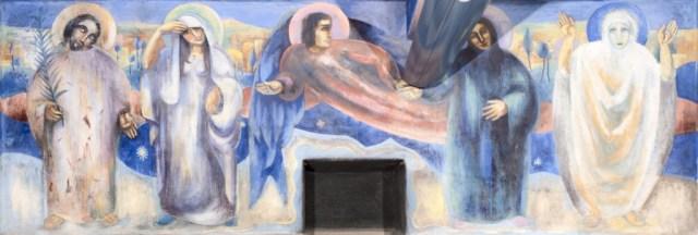 Joep Nicolas in Asselt, centrale ruimte heiligen, engel, ziel, orante