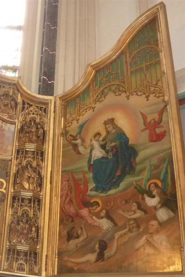Detail van het altaarstuk van J.B. Anthony uit 1910, Sint Jan, Den Bosch