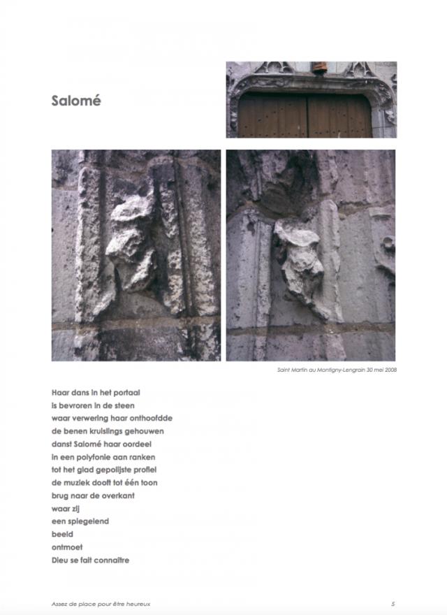 Salomé, gedicht uit Assez de place pour être heureux (2008)