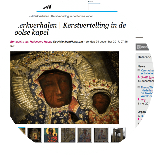 #Kerkverhalen | Kerstvertelling in de Poolse kapel op ifthenisnow.eu (screenshot bvhh.nu 2017).