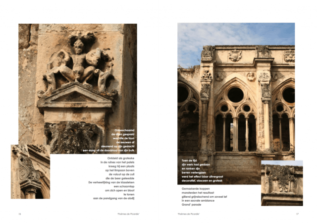 Het gedicht 'Grand' parade' in de bundel 'Poèmes de Picardie' uit 2009. Tekst en collage bvhh.nu 2009.