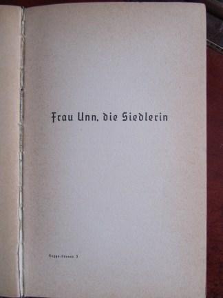 """Title page of chapter """"Frau Unn, die Siedlerin"""""""