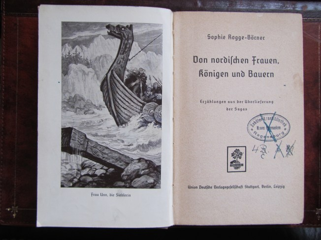 Frontispiece and title page of Sophie Rogge-Börner's book (1935).
