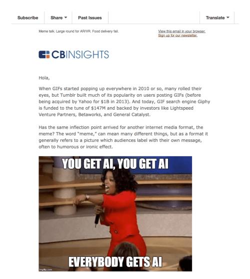 cb insights newsletter