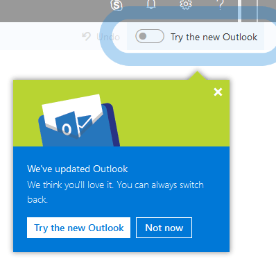 "Office 365 Outlook on the web (OWA): controlling ""opt-in"" for early versions and new experiences"