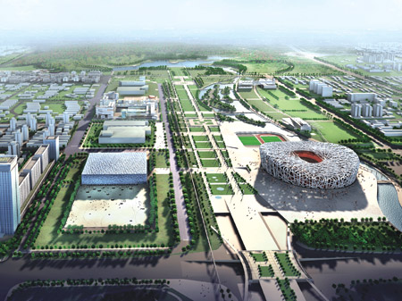 Bird's Eye View of Olympic Green