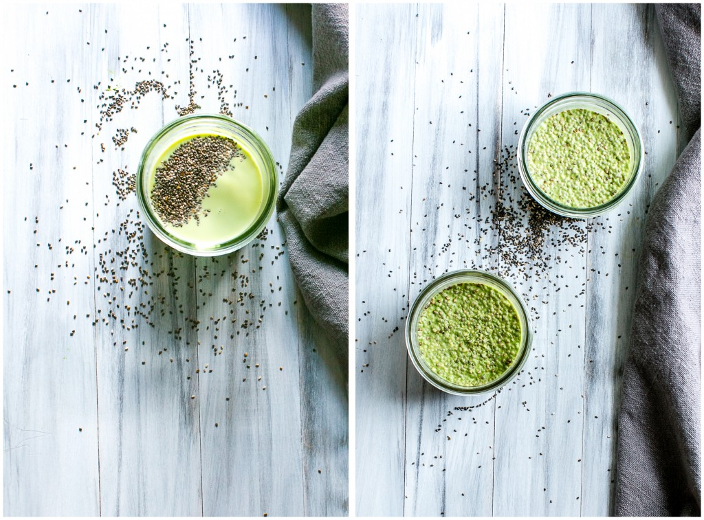 10 minute quick, easy, nourishing, grab and go breakfast. Matcha Chia Pudding | Dairy Free, Vegan | Vanilla And Bean