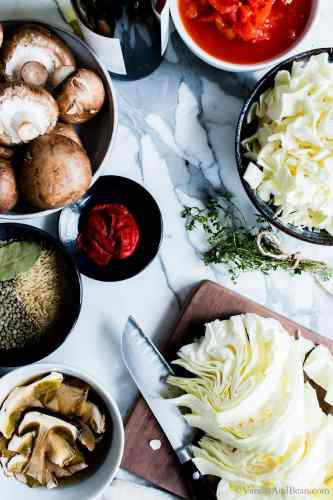 Ingredients for Cabbage Soup