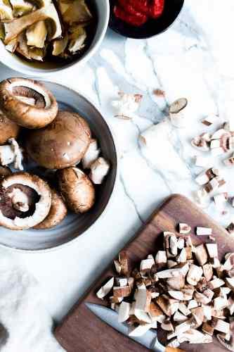 Diced Mushrooms