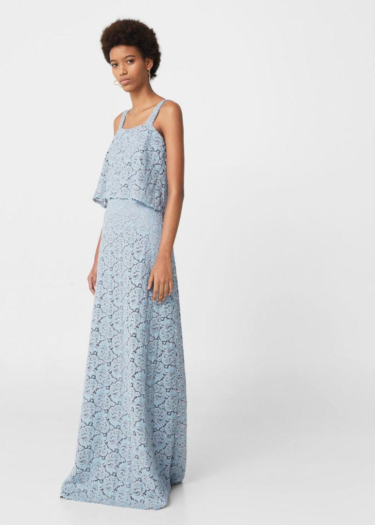 Vestido azul celeste para boda