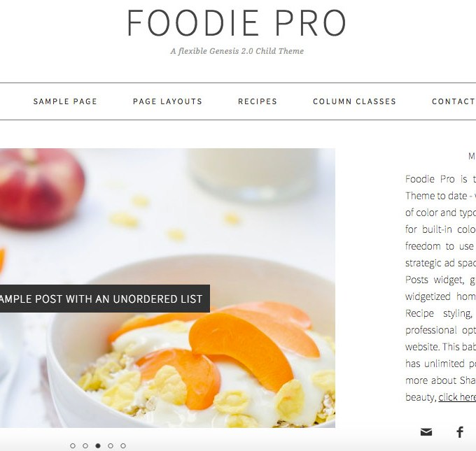 "Why ""FOODIE PRO"" is the best theme for every food blogger"