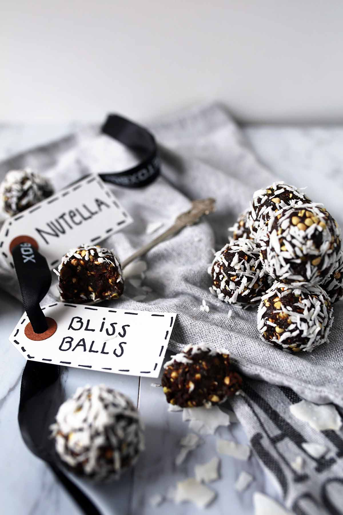 Chocolate Bliss Ball with healthy greens