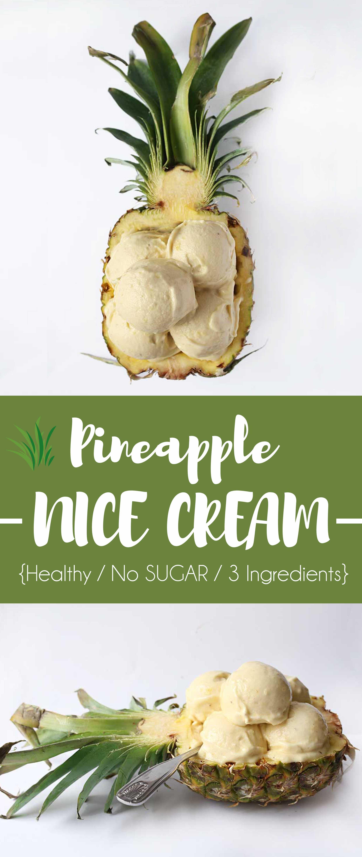 healthier Pineapple Banana Icecream - Veganes Bananen Ananas Eis