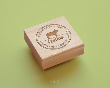 Custom Pet Products - Maple + Cotton French Bulldog Stamp