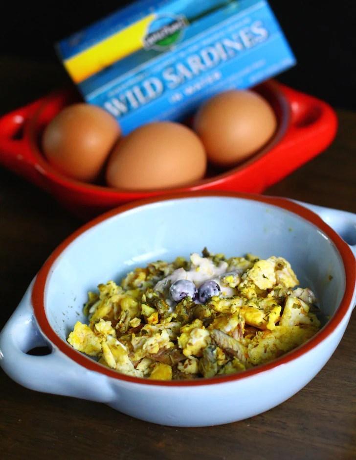 Egg and sardine dog brekkie-dog food recipe by Paws Fur Life   Vanillapup