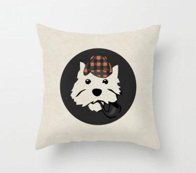 Annie Colour Westie Dog Pillow Cover