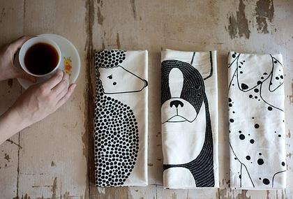 Fancy Huli Dog Tea Towels