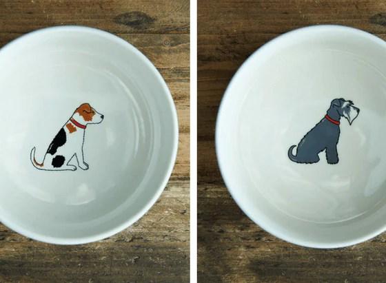 Sweet William London Breed Design Dog Bowl   Vanillapup