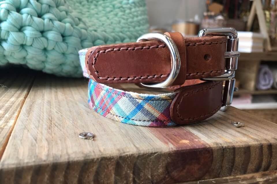 Woofer&Purrlensky Leather Collars   Vanillapup